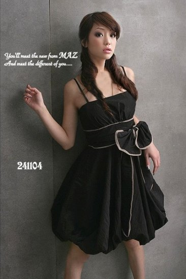 CLUBWEAR EVENING DRESS BLACK COTTON SZ S 6