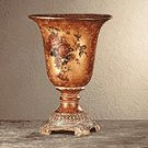 Antiqued Rose-Design Vase