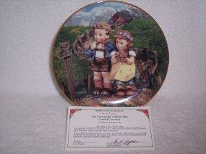 "Hummel Little Companions Plate-""Country Crossroads"" w/certificate"