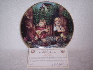 "Hummel Little Companions Plate-""Private Parade"" w/certificate"