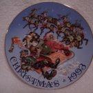 RARE>1993 LMTD EDITION CHRISTMAS PLATE>EMMETT KELLY, JR>Santa's Stowaway