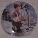 Winter Liebchen Little Darlings Series Plate>R.J. Ernst with COA