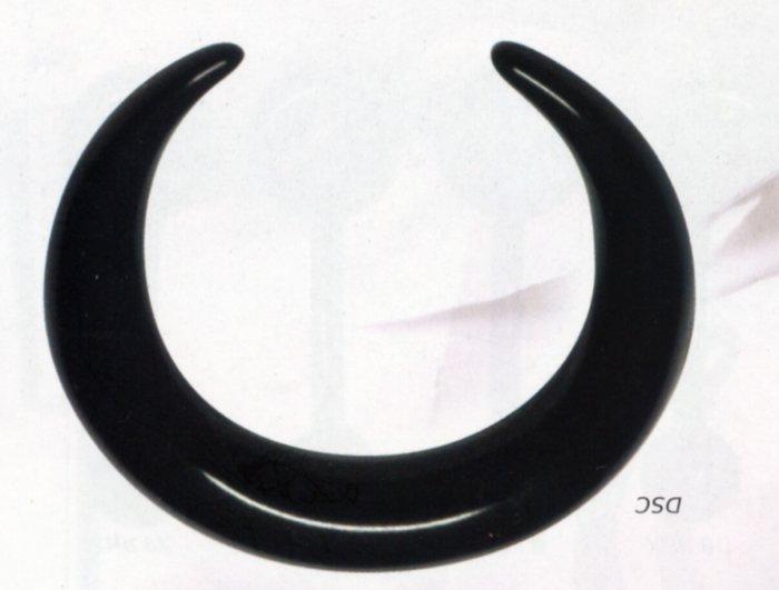 Black Acrylic Crescent