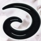 Black Acrylic Spiral