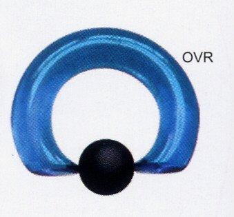 Ocean Glass Vampire Captive Ring