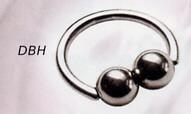 Bouble Ball Closure Ring Horizontal
