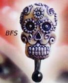 Flower Tibet Skull Claw