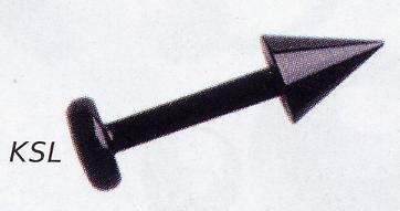 Blackline Spiked Labret Studs