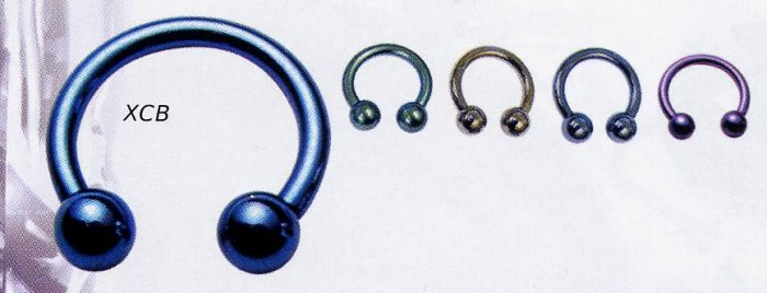 Titanium Circular Barbells