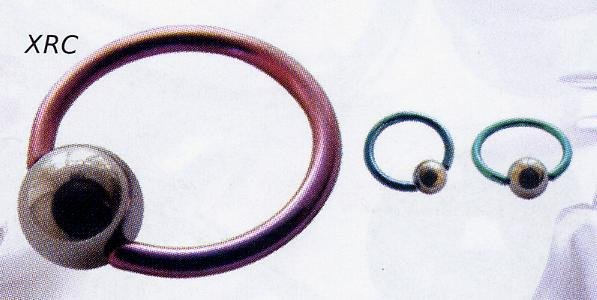 Titanium Ball Closure Rings with 316L Steel Ball