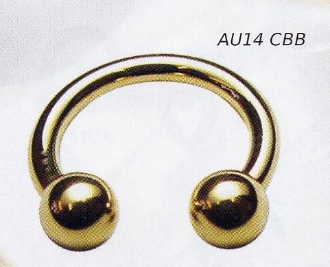 Circular Barbell 14k Gold
