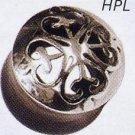 Swirly Heart Hybrid Silver and Buffalo Plug
