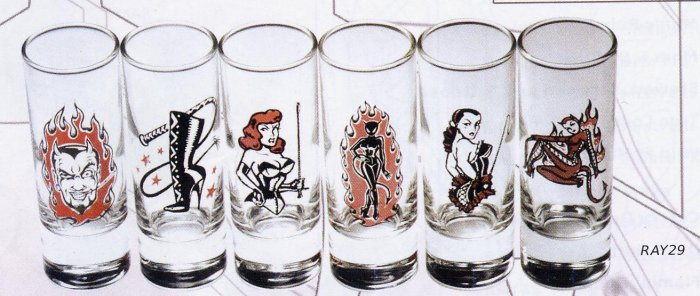 Shot GLasses - Set of 6 Fetish Designs