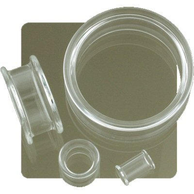 Clear Pyrex Double Flared Eyelet