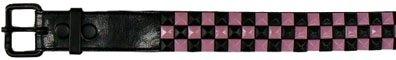Pink and Black Studded Belt