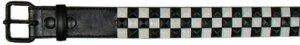 Black and White Studded Belt