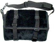 Black Fur Messenger Bag