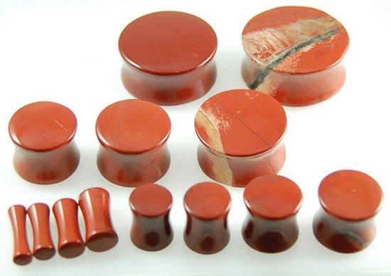 Red Jasper Stone Plugs