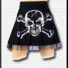 White Skull Print Skirt