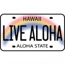 Live Aloha License Plate Car Decal Bumper Sticker
