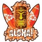 Hawaii Orange Tiki Car Window Decal Bumper Sticker