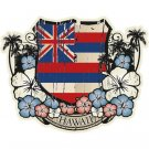 Hawaiian Flag Emblem Car Window Decal Bumper Sticker