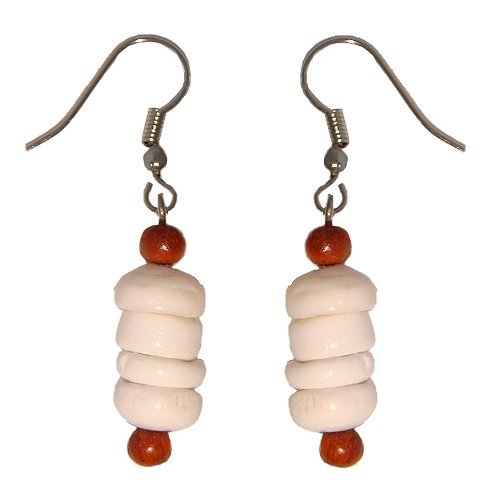Hawaiian Puka Shell Dangling Earrings