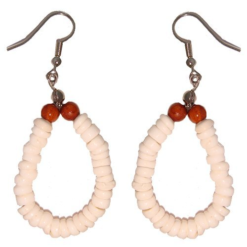 Hawaiian Puka Shell Hoop Earrings