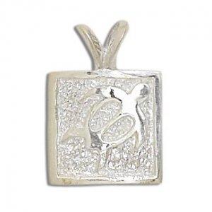 Hawaiian Jewelry Sterling Silver Honu Sea Turtle Pendant
