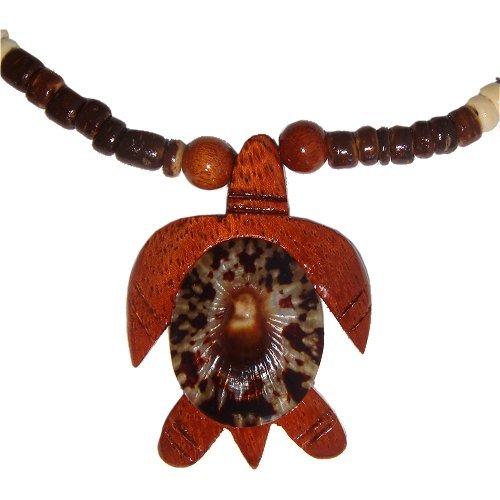 Hawaiian Opihi Shell Koa Wood Honu Turtle Coconut Bead