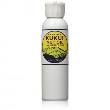 Hawaiian Kukui Nut Oil 4 oz Bottle - Maui Medicinal Herbs