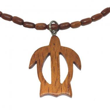 Hawaiian Jewelry Koa Wood Rice Bead Hawaii Honu Sea Turtle Necklace Choker
