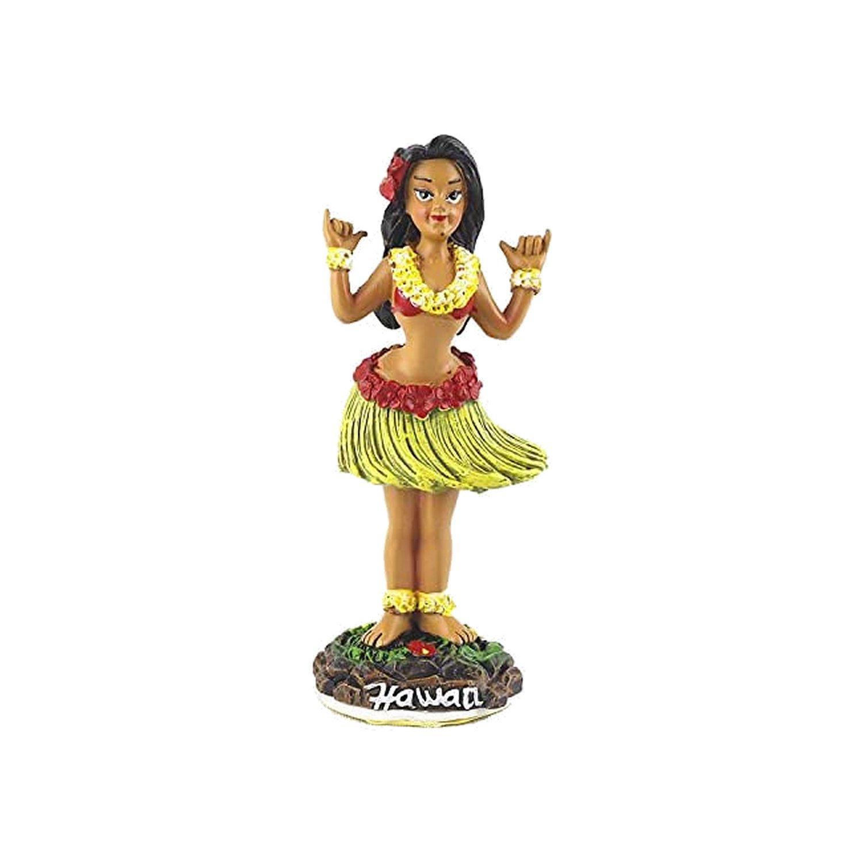 Hawaiian Wiggling Hula Girl Shaka Sign Small Dashboard Doll