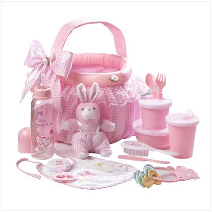 Baby Gift Basket in Pink