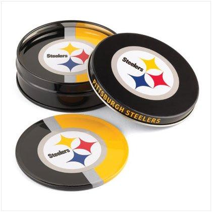 Tin Coaster Set- Pittsburgh Steelers