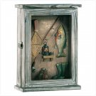 Fishing Shadowbox Key Cabinet