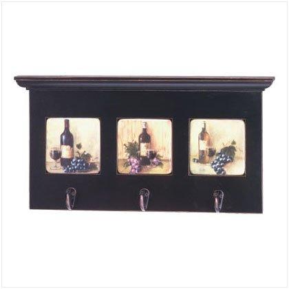 Wine Motif Coat Rack with Shelf