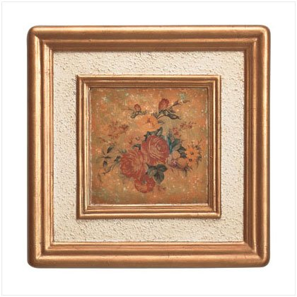 Antique Rose Wall Frame