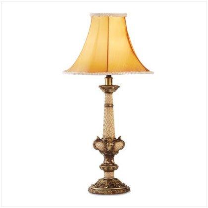 Antiqued Scroll Motif Table Lamp