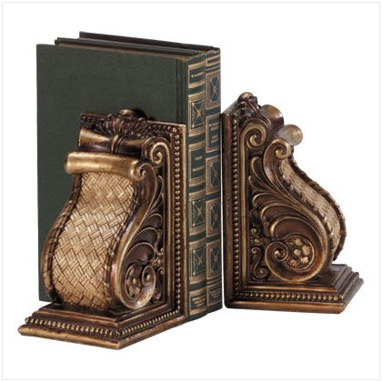 Ornate Scroll Bookends