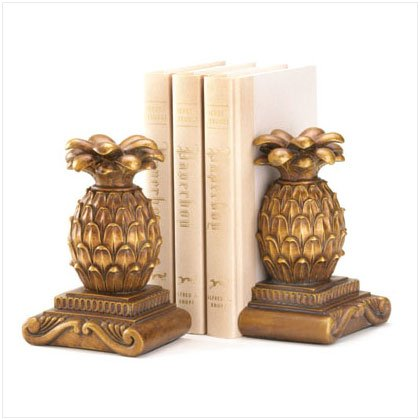 Ornate Pineapple Bookends