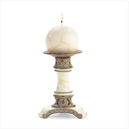 Marble Candleholder with Candle