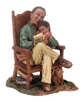 Grandfather & Child Figurine