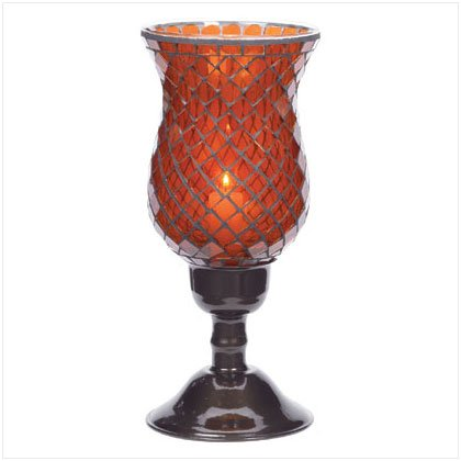 Amber Mosaic Candleholder