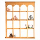 16 Compartment Arched Curio Cabinet