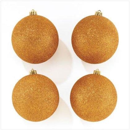 Gold Glitter Ornaments