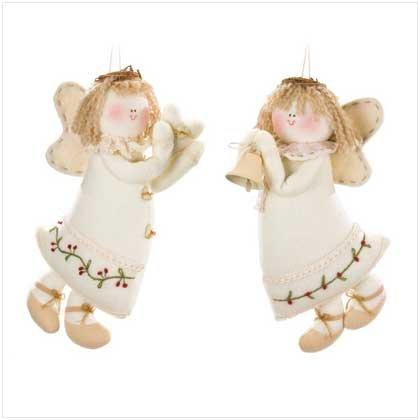 Plush Angel Ornaments