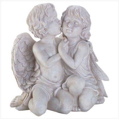 Kissing Cherub Sculpture