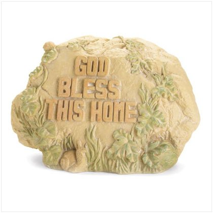 """""""God Bless This Home"""" Garden Stone"""