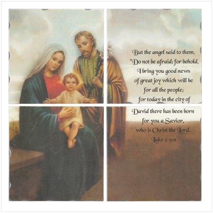 4 Piece Nativity Lacquer Mural